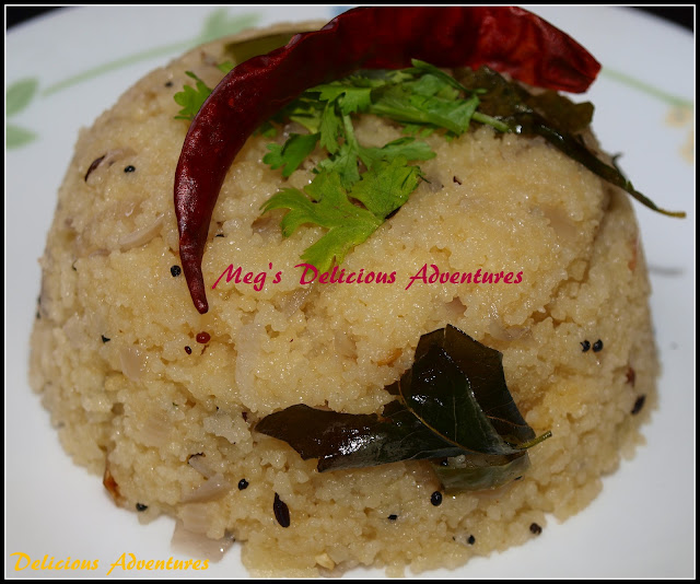 Couscous Upma (Indian Fusion Breakfast with Couscous)