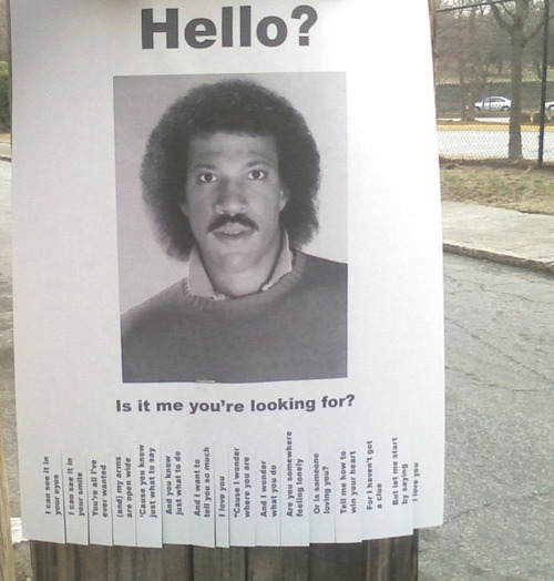 Lionel Richie - Hello Is It Me You're Looking For