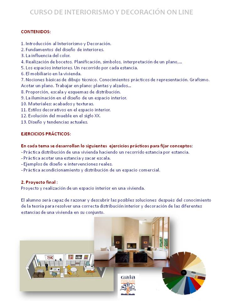 curso de interiorismo y decoraci n a distancia