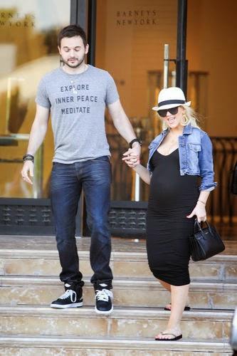 Christina Aguilera With Jordan
