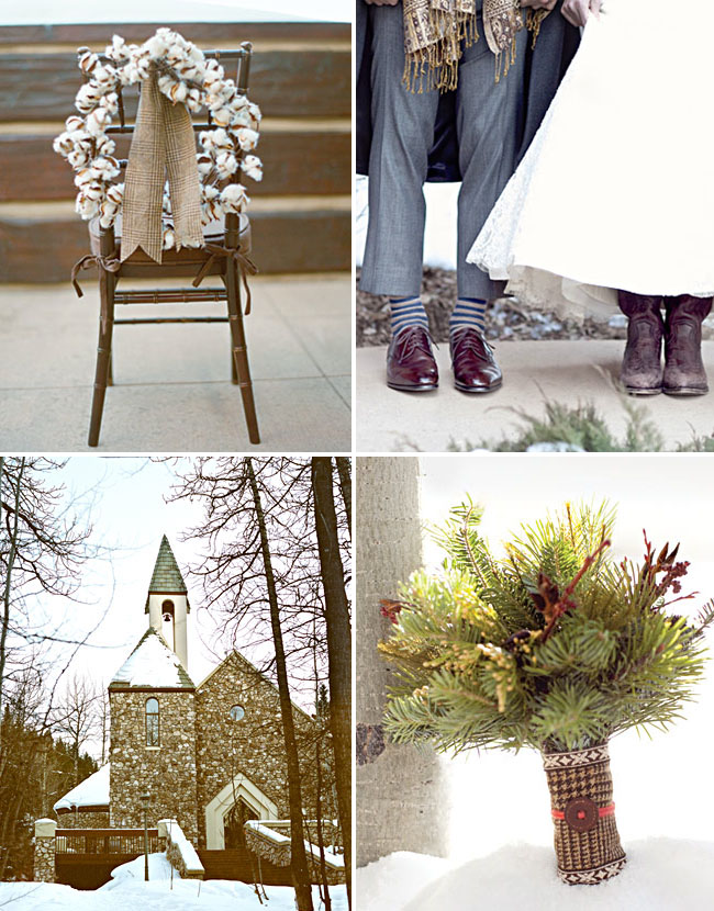Rustic Winter CO Wedding