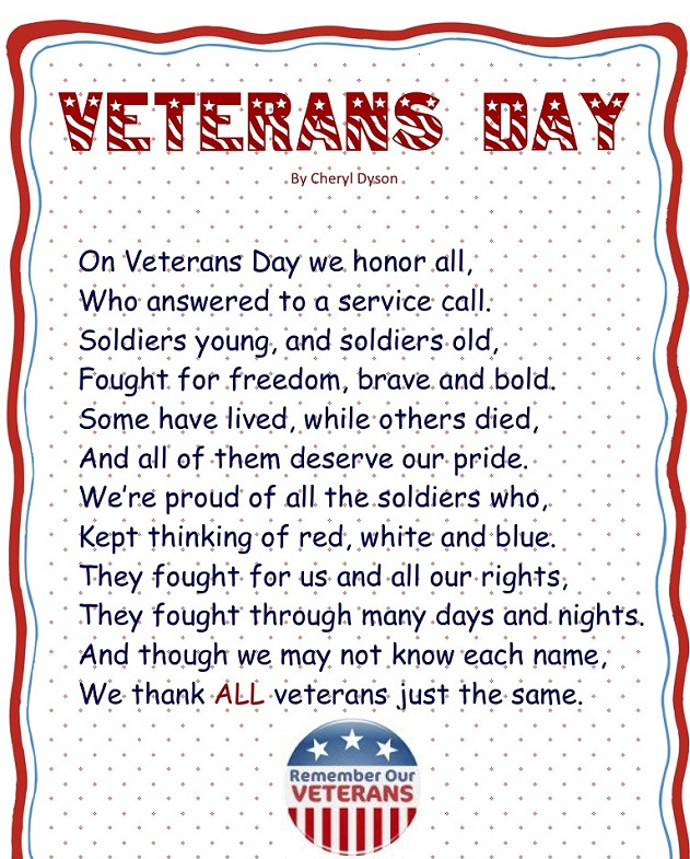 thank you veterans day poems for church and elementary students