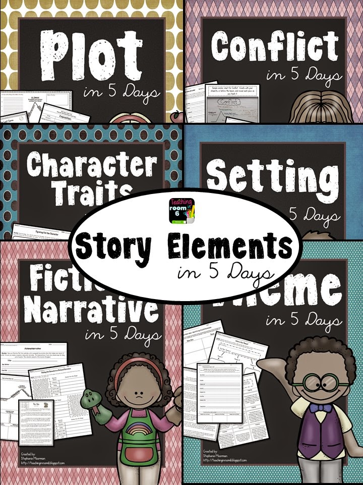 http://www.teacherspayteachers.com/Product/Story-Elements-in-5-Days-BUNDLED-Lessons-to-Teach-Fiction-Story-Elements-1587125