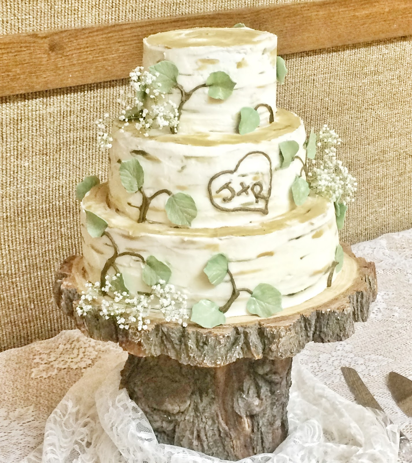 The Cake Cottage Birch Tree Wedding Cake