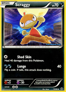 Scraggy Pokemon Card Next Destinies Set