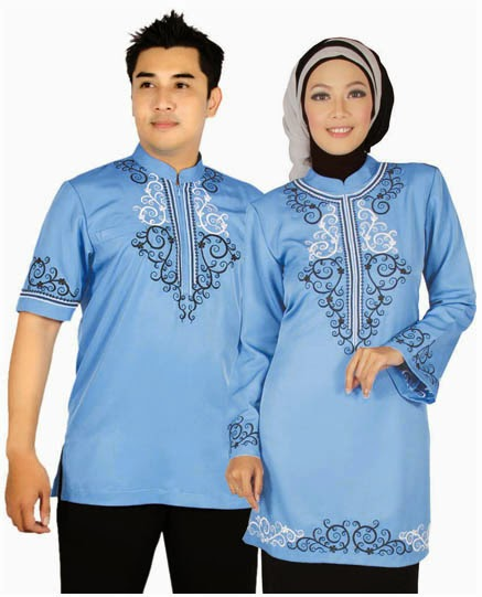 Model baru baju muslim couple