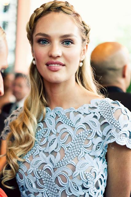 Braided Frisur Candice Swanepoel