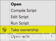 Take Ownership Win 8 7 XP – Chiếm quyền quản trị trong Windows