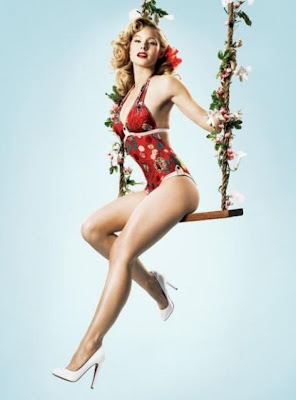 Todays Celebrities in the style of Vintage Pin-Up Seen On  www.coolpicturegallery.us