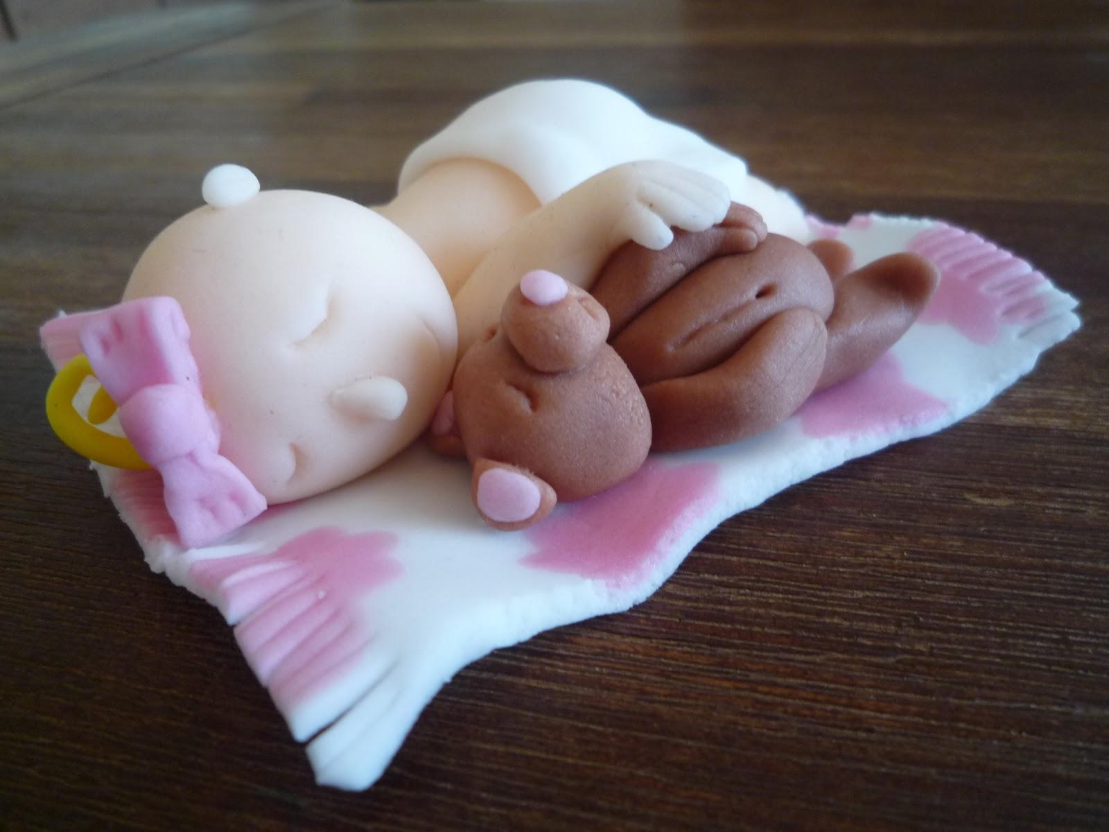 Motivtorte, Torte Geburt, Geburtstorte, Baby mit Teddy