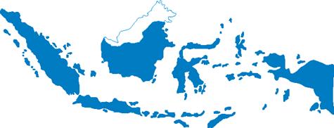 Desain Gambar Peta Indonesia versi CorelDraw