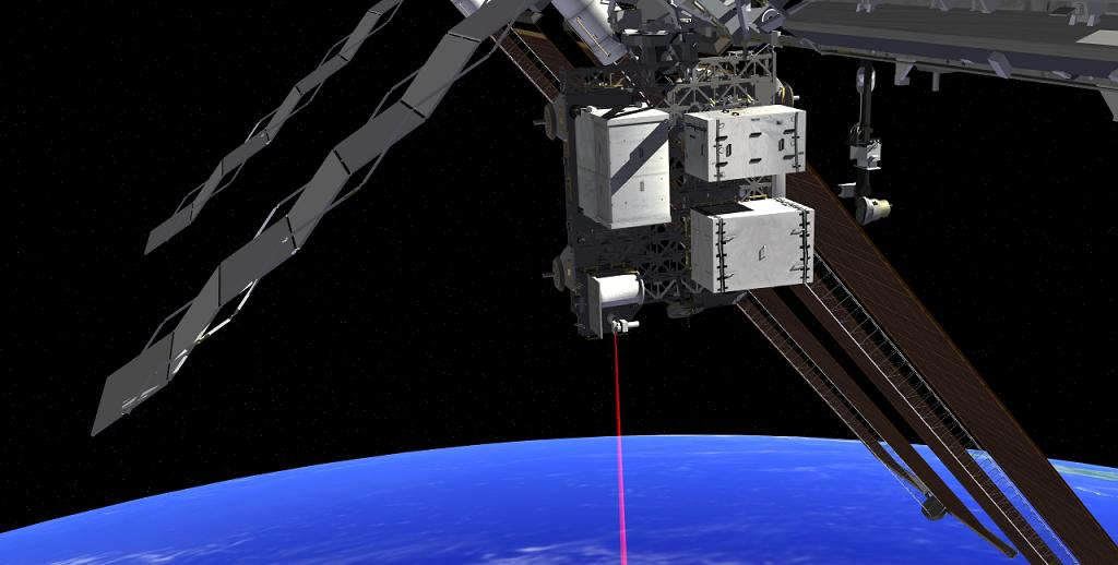 An artist's rendering shows the Optical Payload for Lasercomm Science (OPALS). Image Credit: OPALS