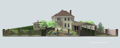 Проект озеленения, 3D визуализация