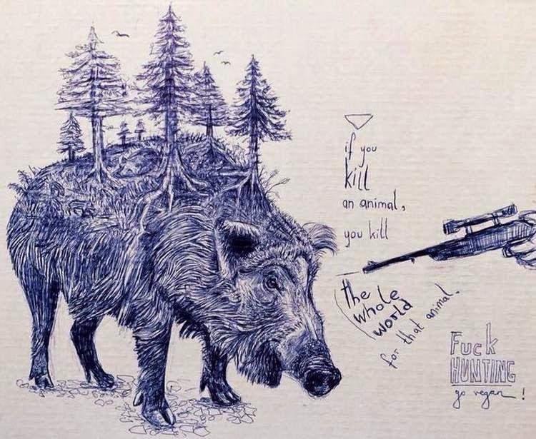 Katharina Rot - Fuck Hunting, Go Vegan!