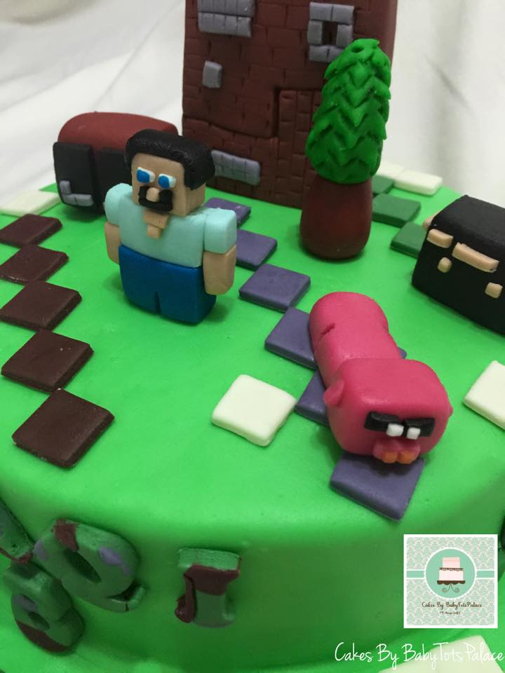 Flair Cakes Sisters Minecraft Cake