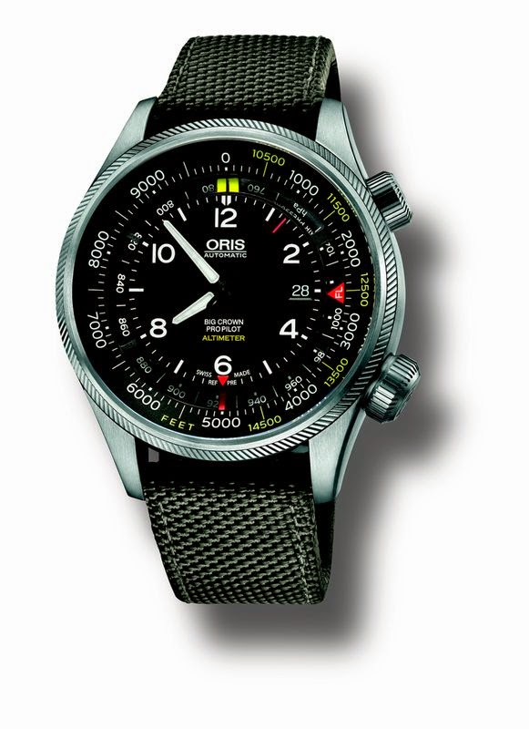 ORIS BIG CROWN PROPILOT ALTIMETER CORREA TEXTIL