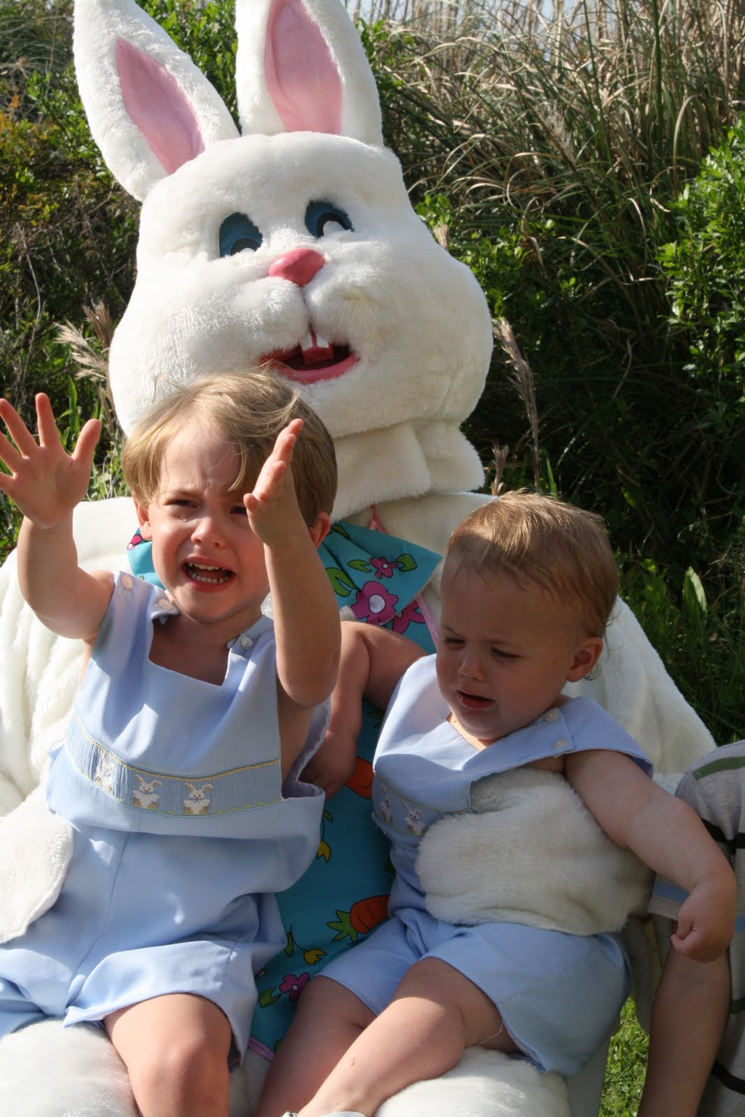 Scary Easter Bunny Photos Easter bunnies are scary