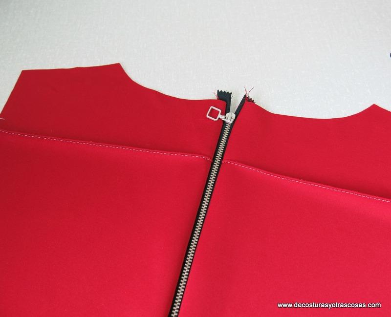 como coser una cremallera decorativa