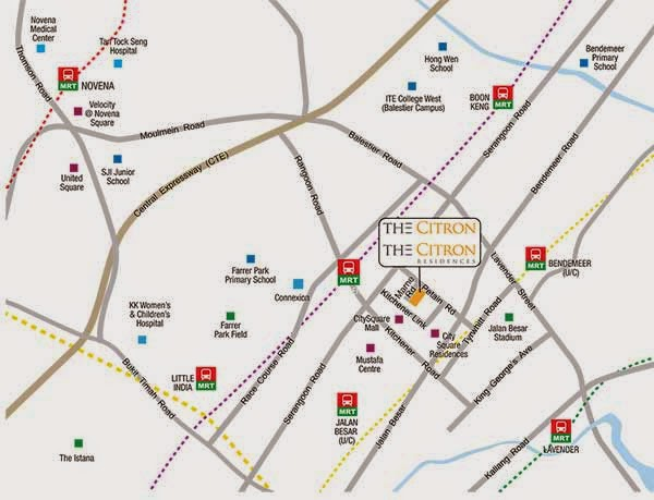 The Citron Residences Location Map