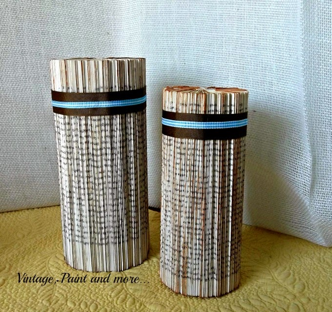 Tweak It Tuesday - old books made into home decor, columns from old books