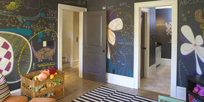 Chalkboard Paint in Room