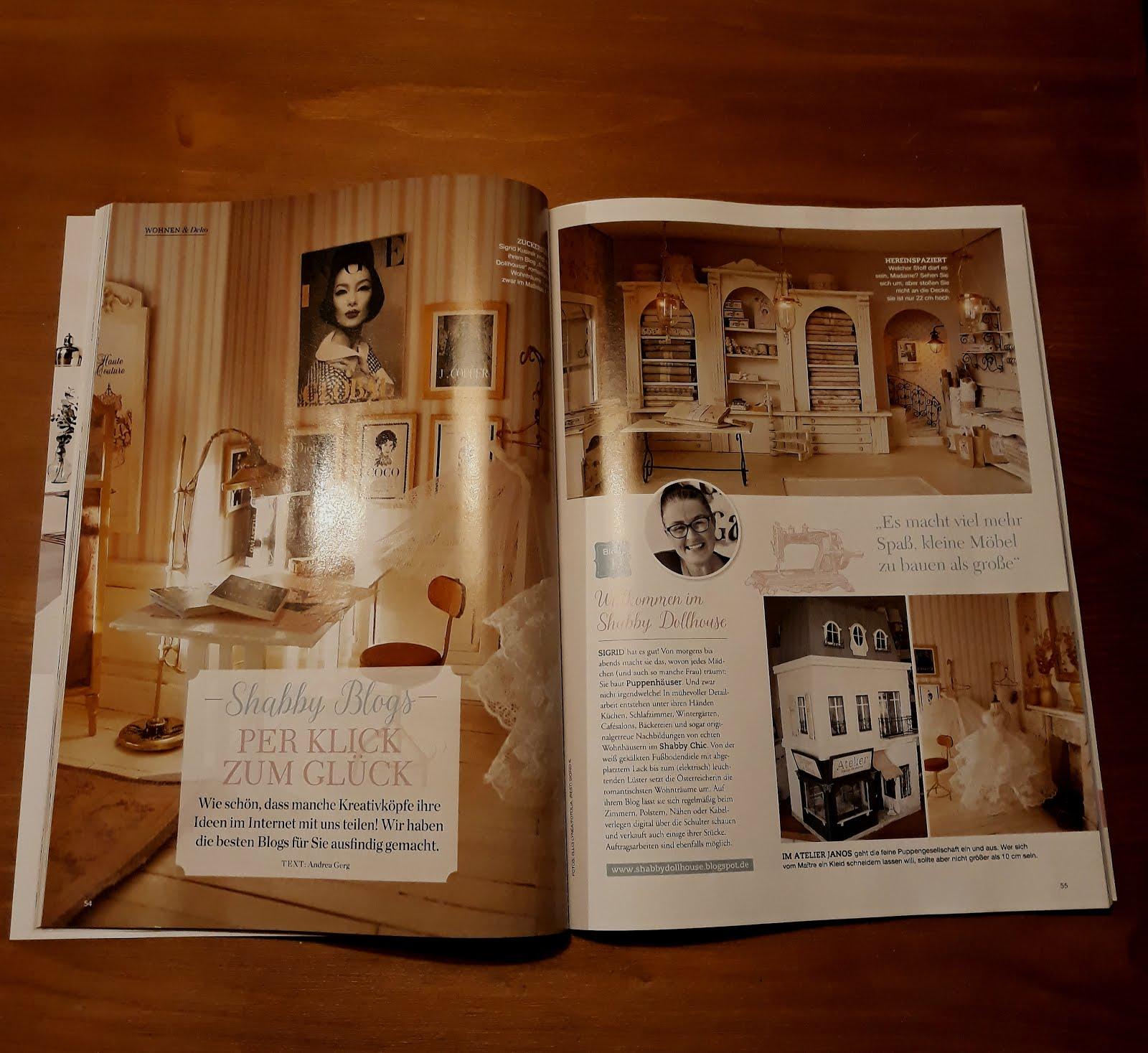 Sigmines Minis im Magazin TRAUMWOHNEN