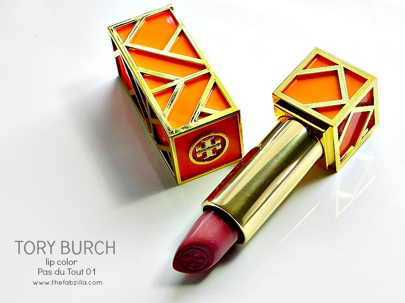 tory burch review swatch lip color pas du tout 01, tory burch beauty review, jennifer lopez american idol makeup