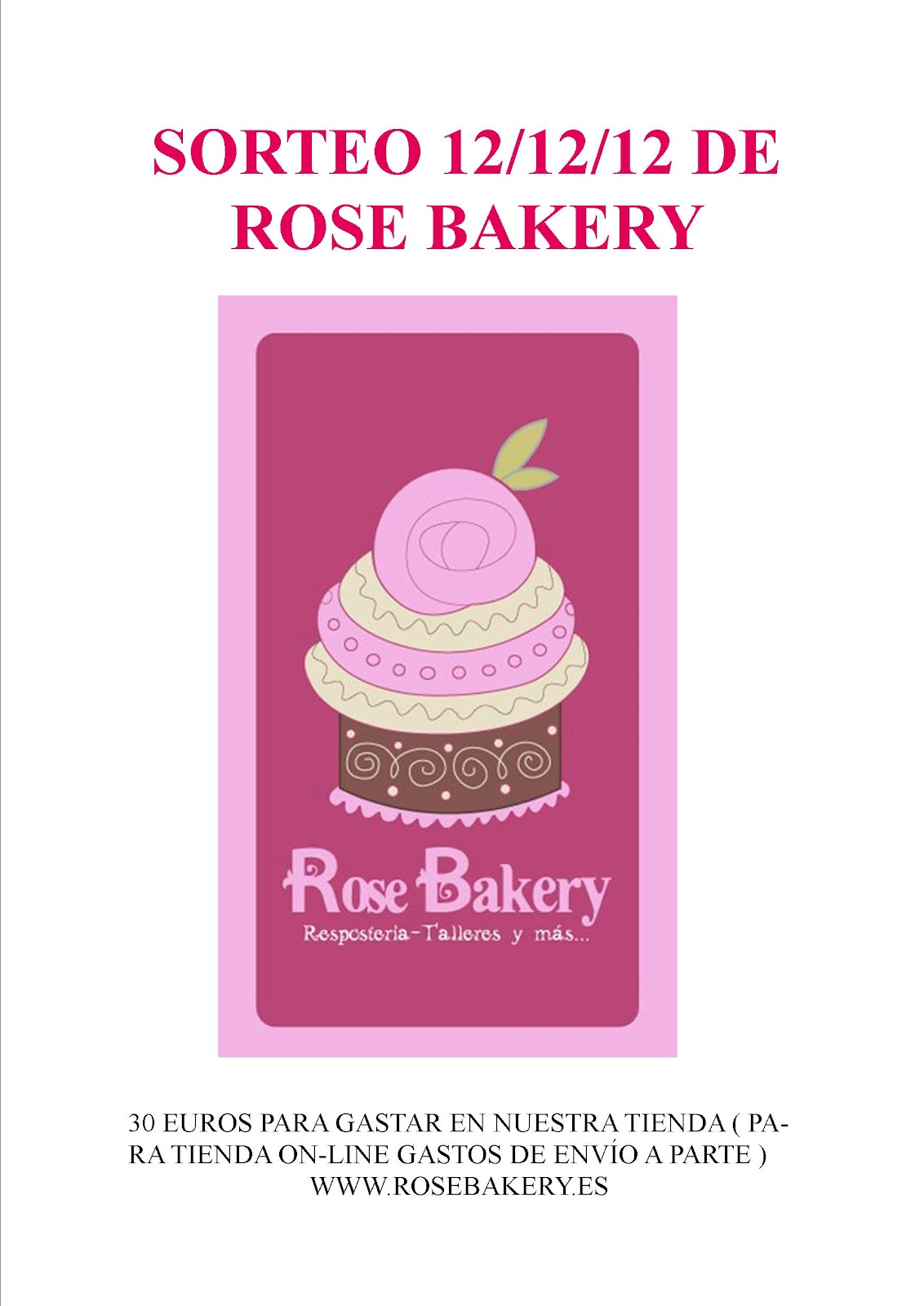SORTEO EN ROSE BAKERY
