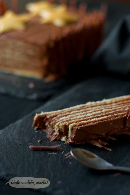 receta de bizcocho con crema de chocolate