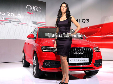 Katrina Kaif Auto Expo 2012 1 - Katrina Kaif Auto Expo 2012 Audi Q3 Launch Pic