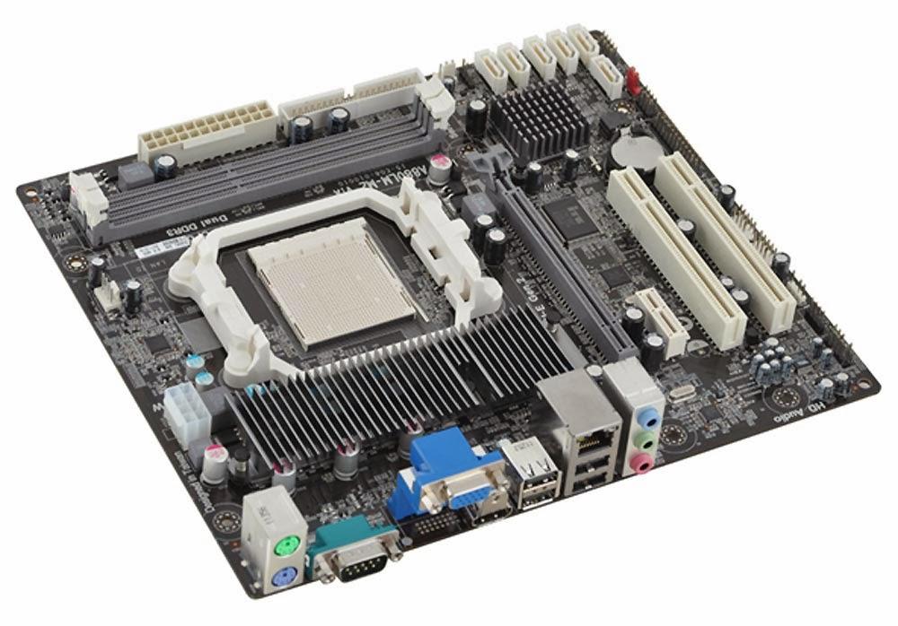 ECS C51PVGM-M V1.0 Socket AM2 Motherboard With BP