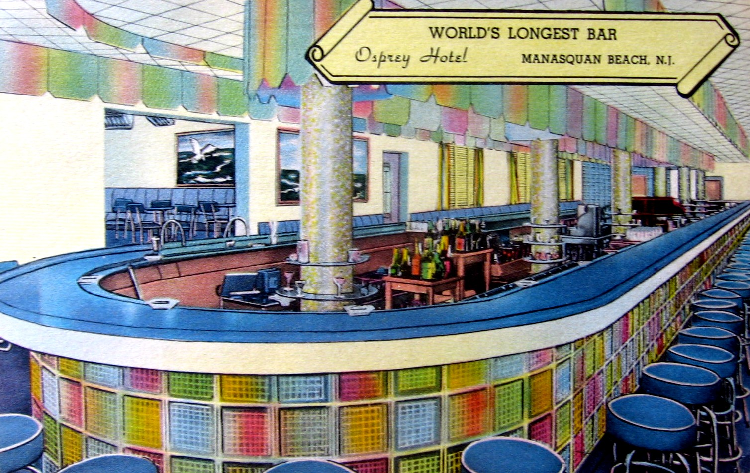 Manasquan Nj World S Longest Bar At The Osprey Hotel