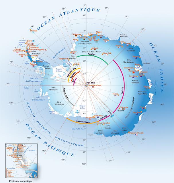 Graphisme des bases scientifiques en Antarctique
