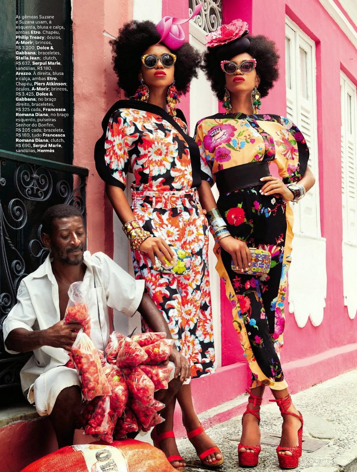 Suzane & Suzana Massena by Giampaolo Sgura for Vogue Brazil February 2013 | Ses Rêveries