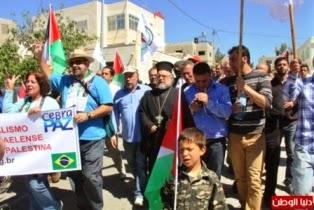 Brasileitos solidários com a resistencia palestina contra a ocupação