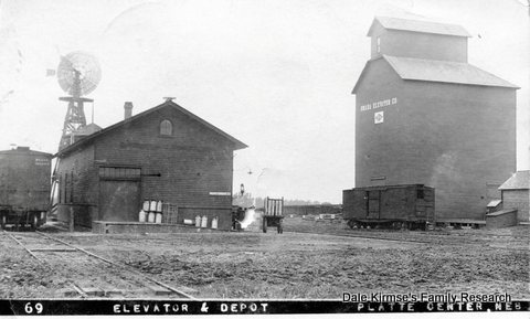 Elevator & Depot - Platte Center, Nebraska