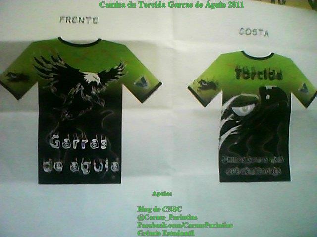 Camisa Oficial Da Torcida Garras De   Guia Dos Jogos Escolares De 2011