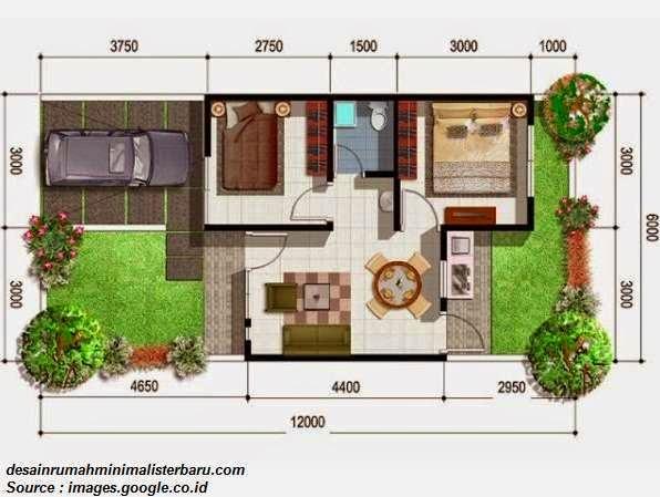 desain denah rumah minimalis type 54 harga terbaru 2014