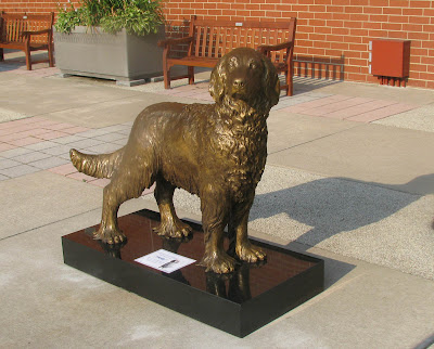 custom bronze dog portrait statue by dog sculptor Lena Toritch