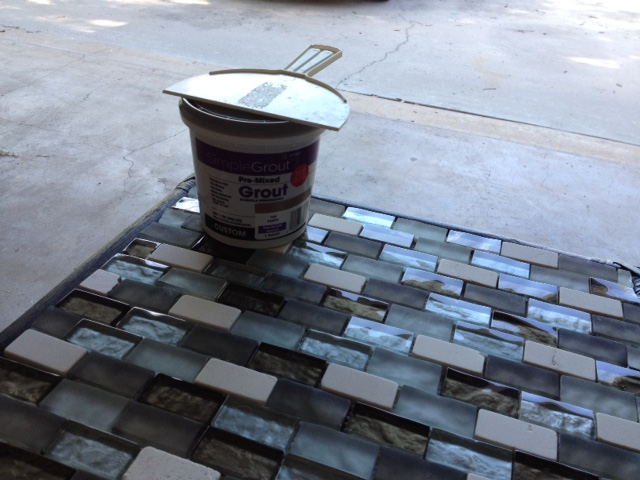 Trash To Treasure - DIY Outdoor Table Grout