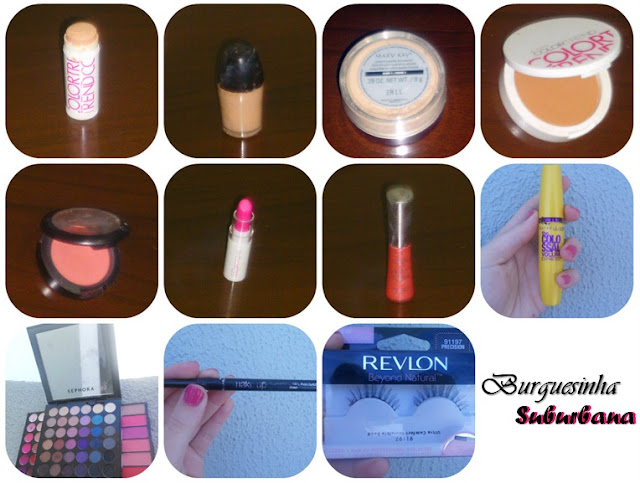 Maquiagens usadas para a Transformação