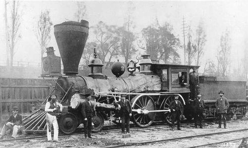 first steam engine train