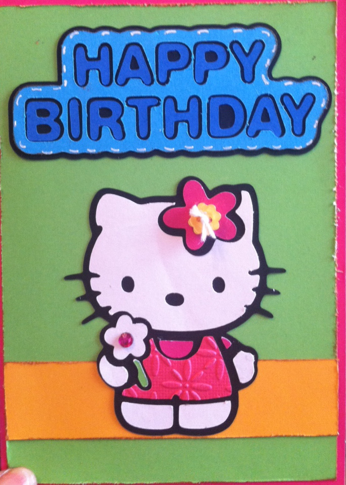 Clippings By Sharondalyn Hello Kitty Birthday Card