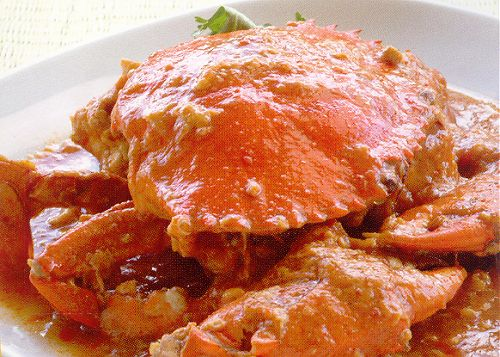 serve and enjoy this delicious chinese food recipe fried chili crab