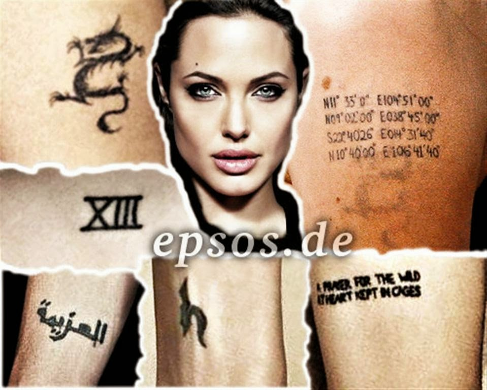 angelina jolie tattoos meaning