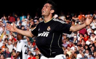 Kaka scored twice against Valencia