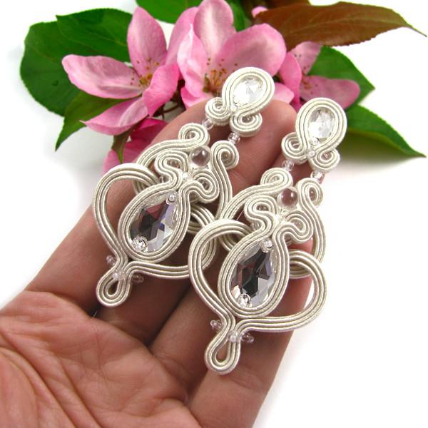Biżuteria ślubna sutasz z kryształami Swarovski
