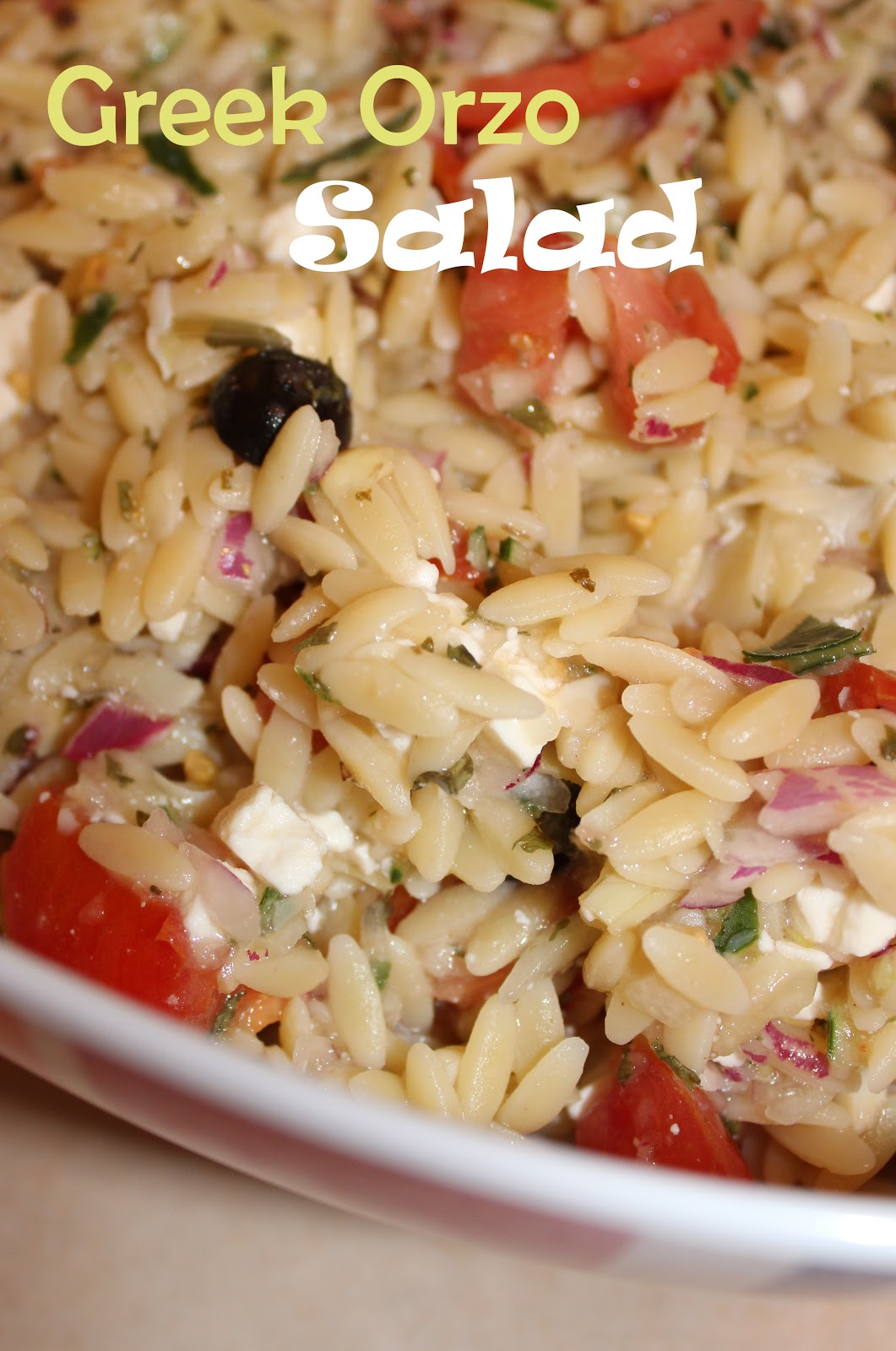 Harris Sisters GirlTalk: Greek Orzo Salad