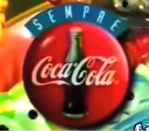 Propaganda dos Geloucos da Coca-Cola em 1997. Sucesso de colecionáveis no Brasil.