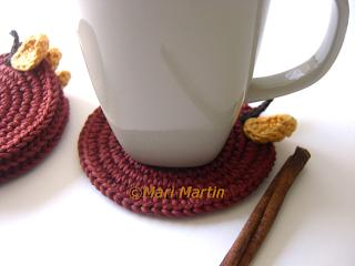 Crochet Coasters Cinnamon Apple